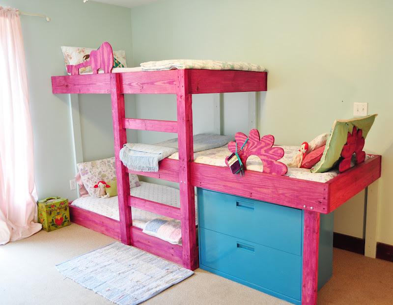 wooden bunk bed design