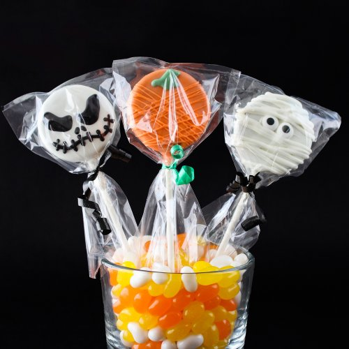 Halloween Chocolate Covered Oreo Pops