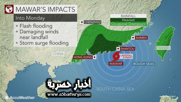نبذه عن اعصار ماوار ويكيبيديا | الصين ترفع صافرة الاستعدادات القصوي لتلقي عاصة اعصار ماوار نهاية الاسبوع الجاري التي ستضرب شرق الصين