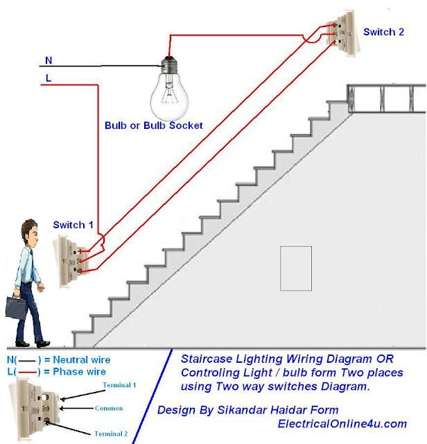 two way light switch diagram