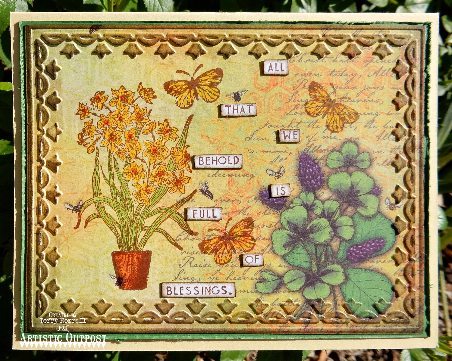 Stamps - Artistic Outpost Flower Market, ODBD Blooming Garden Paper Collection