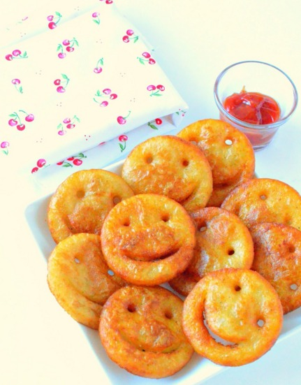Smiley Potato Fries Recipe