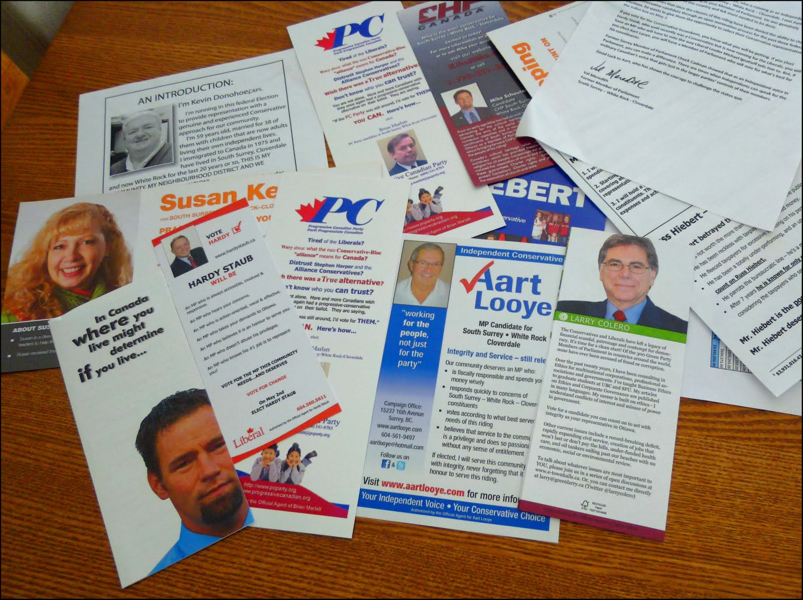 Brochures From Various Political Parties Have Fully Landed On Canadian  Doorsteps. Voting Is A Right Many Take For Granted.