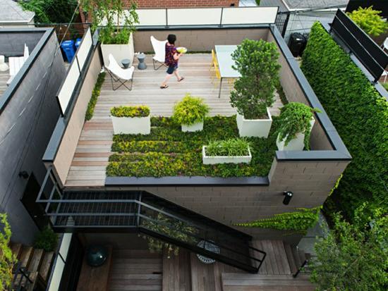 LINGKAR WARNA: Inspirasi Taman Stylish Di Atap Rumah