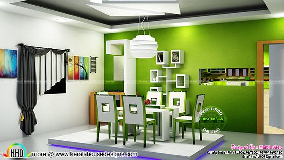 Kerala dining interior design