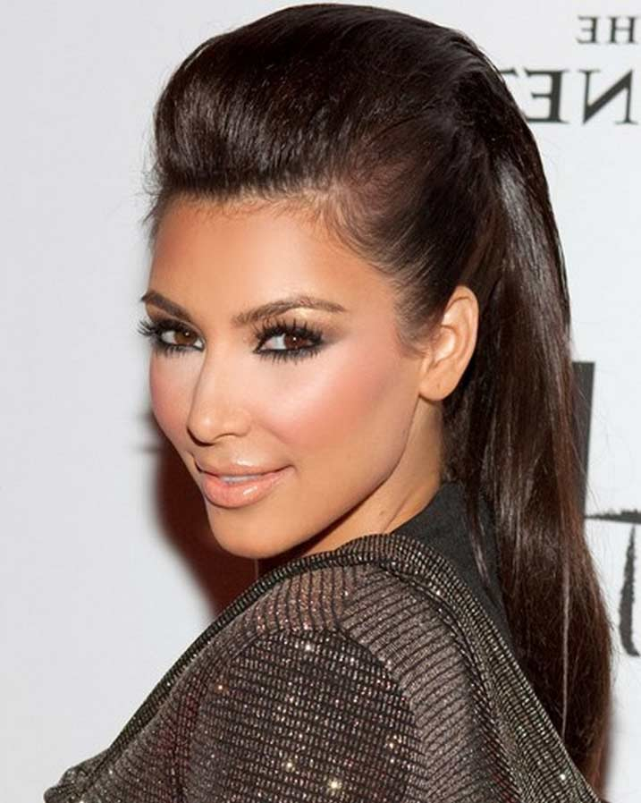 How To Do Kim Kardashian Inspired Updo Hairstyle With Video Tutorial
