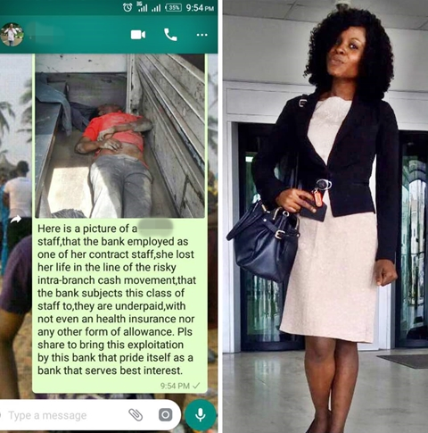 Female Bank Staff Killed During Cash Movement In Lagos (Photos)