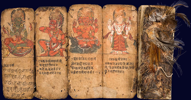 A Sorcerer's Manual containing instructions for protective and exorcistic Shaiva rituals and mantras - Nepal, 17th Century