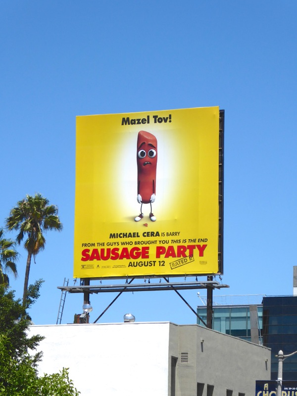 Sausage Party movie billboard
