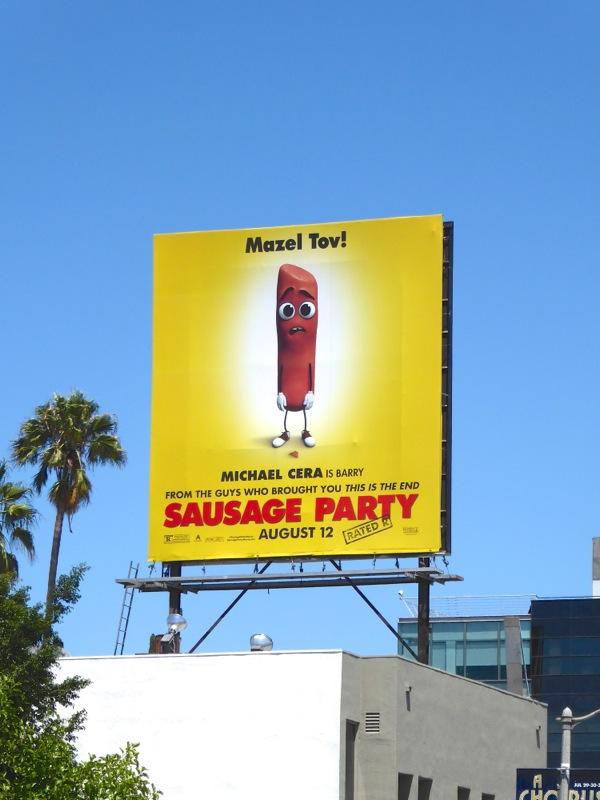 Sausage Party movie billboard