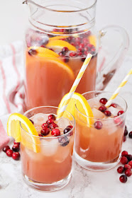 This simple and delicious holiday punch is so refreshing, and so easy to make!