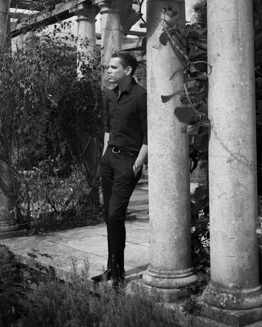 shirt and trousers black and white