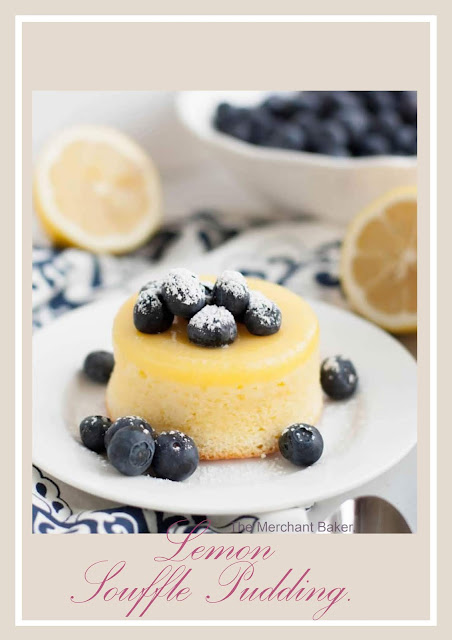 Delicious recipe of lemon souffle pudding cake