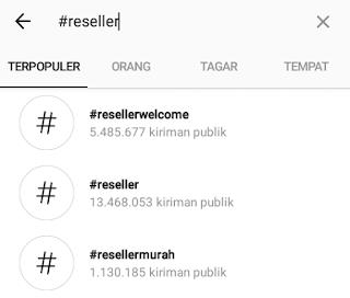 cara mencari reseller di instagram
