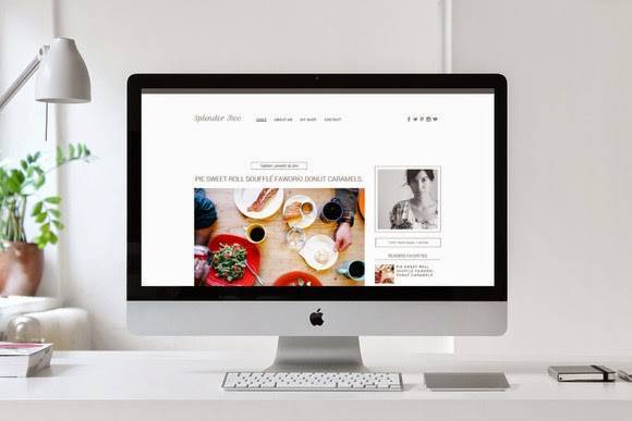 Splendor v2 - Premade Blogger Template - Portfolio Blog