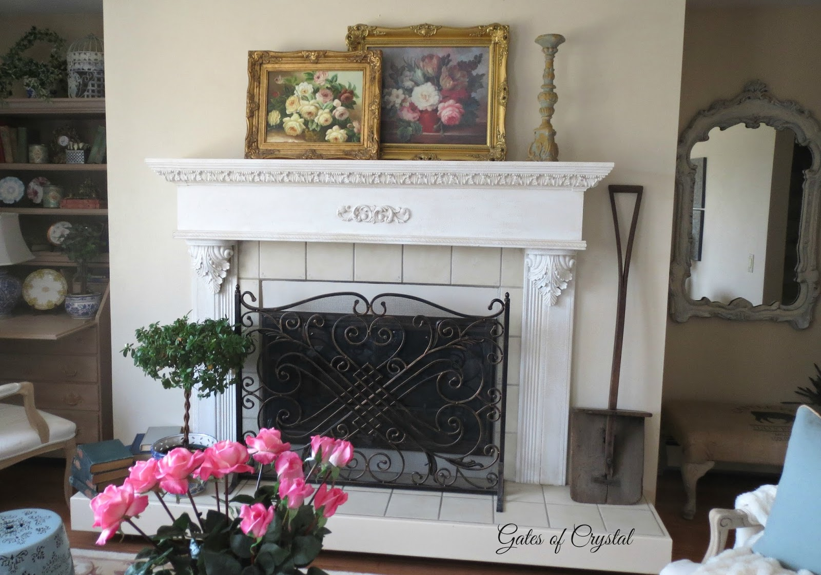 gates of crystal florals beams and a new coffee table in the