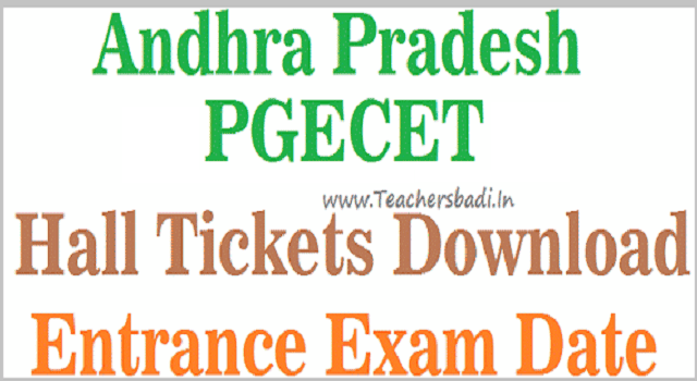 AP PGECET Hall Tickets, APPGECET Exam dates, APPGECET Admit cards