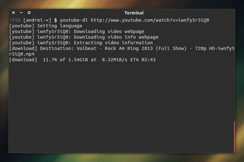 Command Line Video Download Tool `youtube-dl` Gets