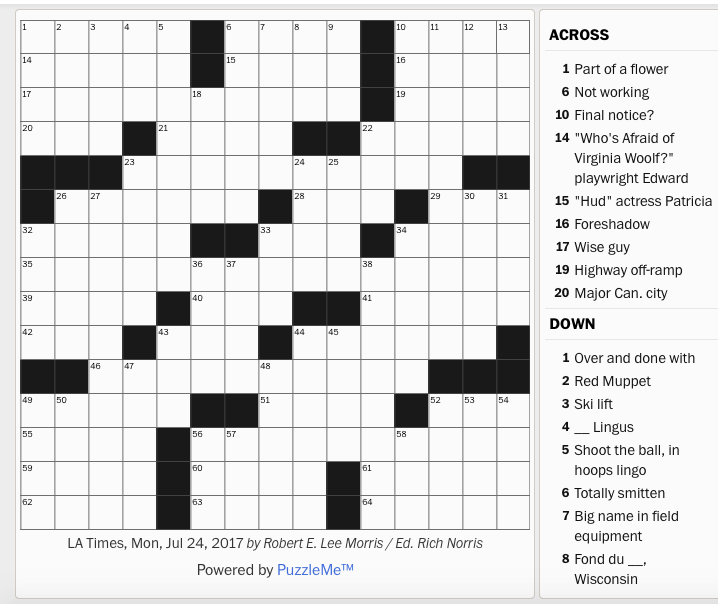 Shoes Without Heels Crossword