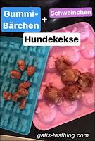 Hundekekse in Gummibären und Schweinchenform