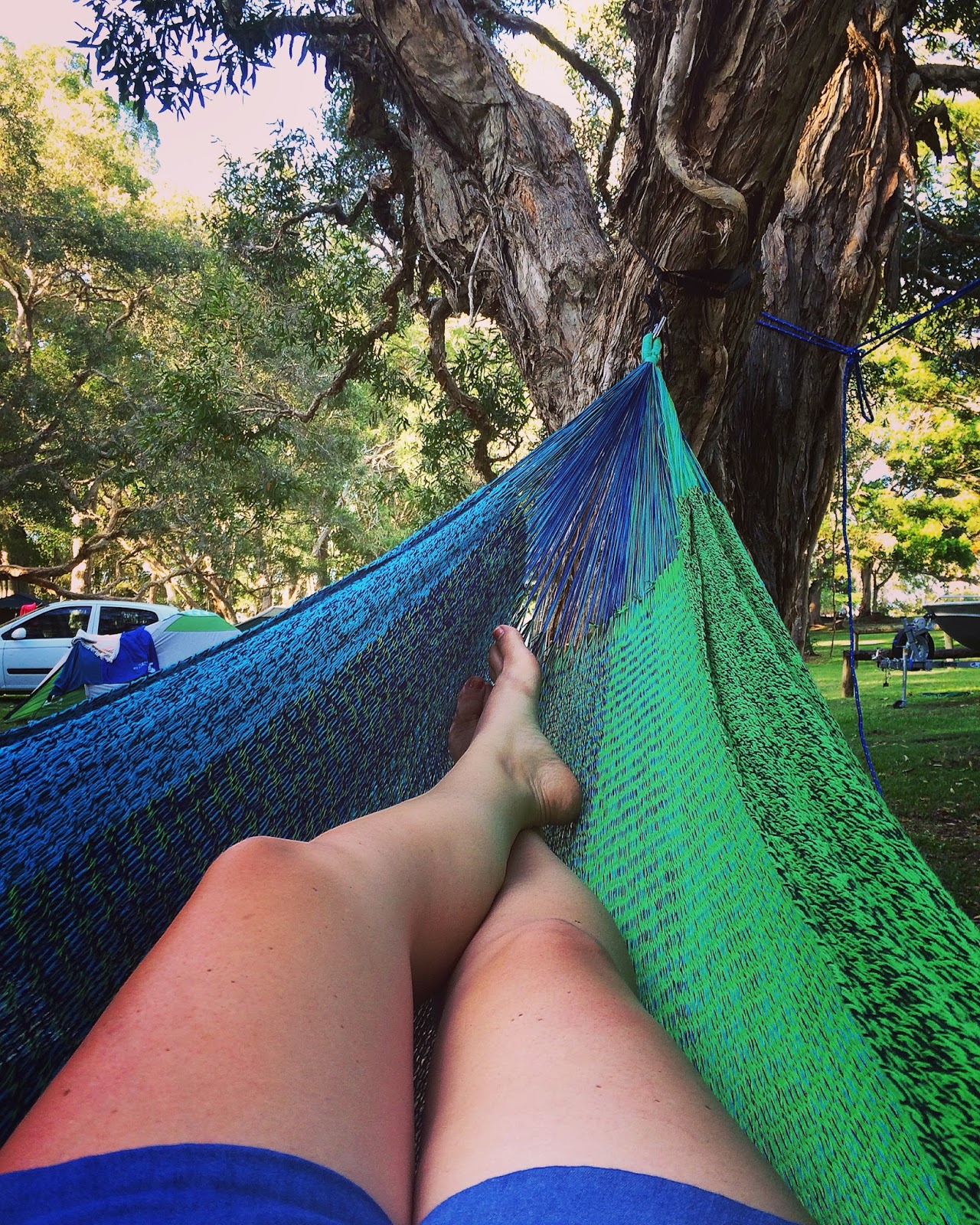Relaxing in West Coast Hammock