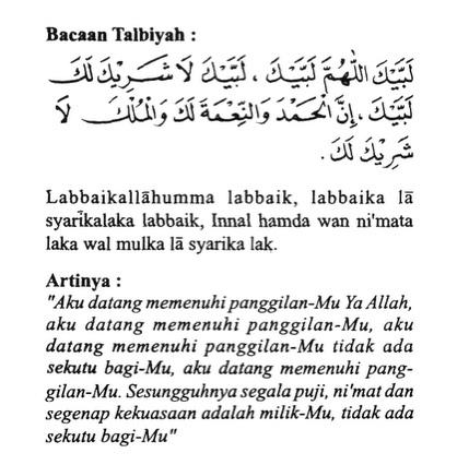 Doa doa Umroh Talbiyah