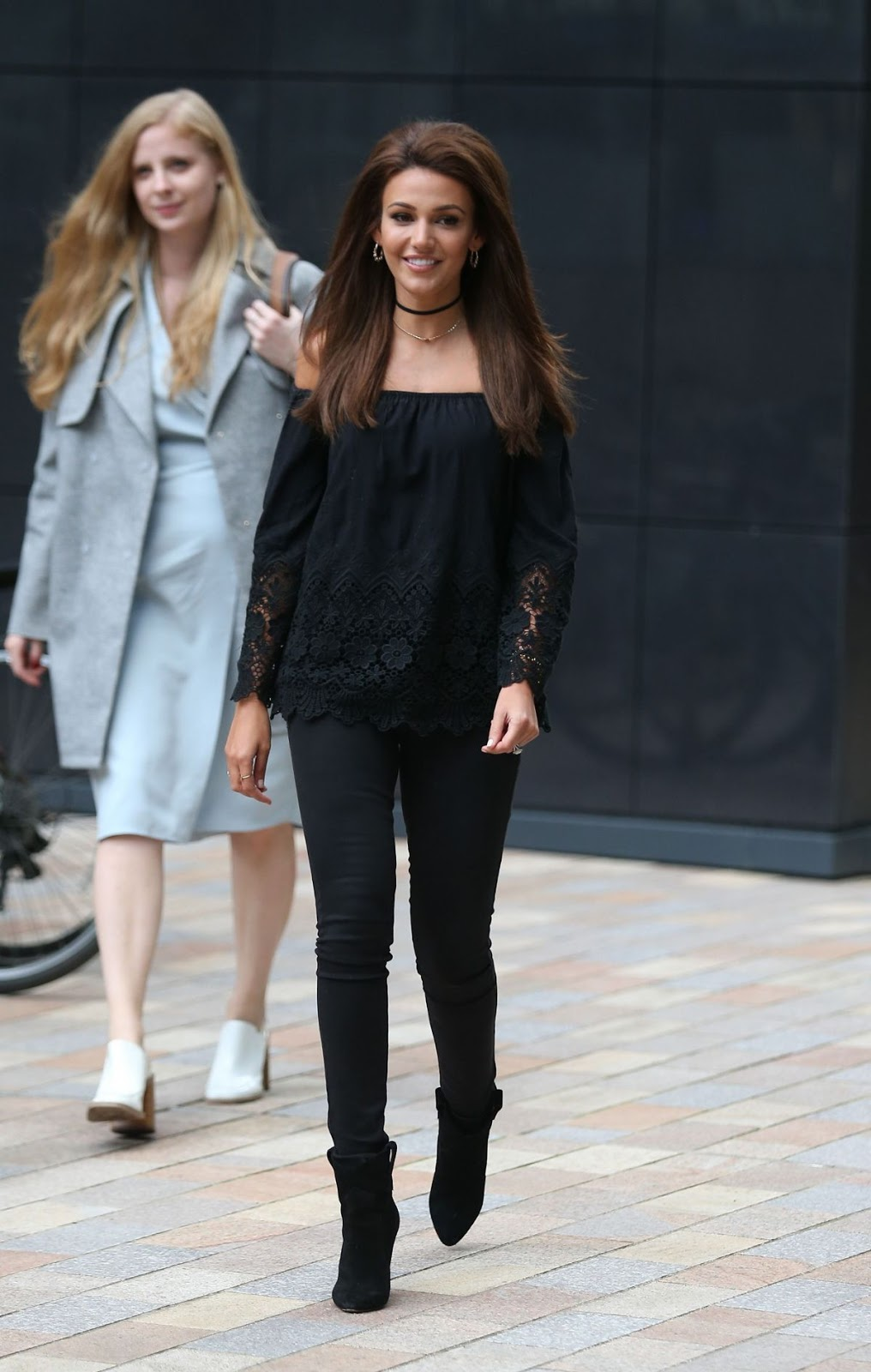 HD Photos Michelle Keegan in Black dress Arrives At Our Girl Premiere In Manchester