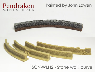 SCN-WLH2   Stone wall, curve (4 pieces)