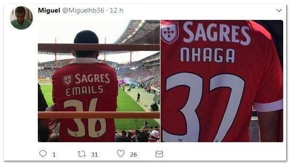 Benfica envia emails ao Nhaga