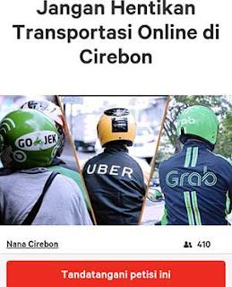transportasi online di kota cirebon mulai dapat dukungan