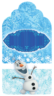Olaf Smiling: Free Printable Candy Bar Labels.