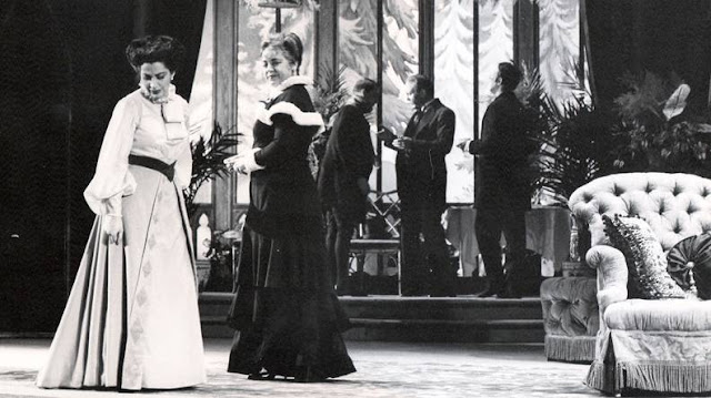 Rosalind Elias and Eleanor Steber in the original 1958 Met Opera production of Vanessa. Photo: Courtesy of the Metropolitan Opera Archive