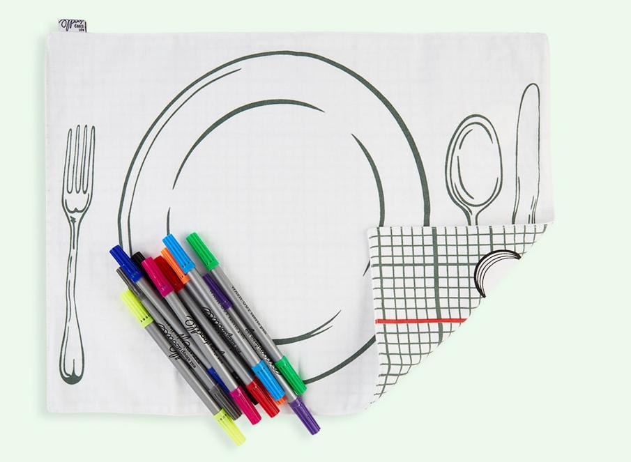 20 best placemats for your dining table doodle placemat to go malvernweather Images