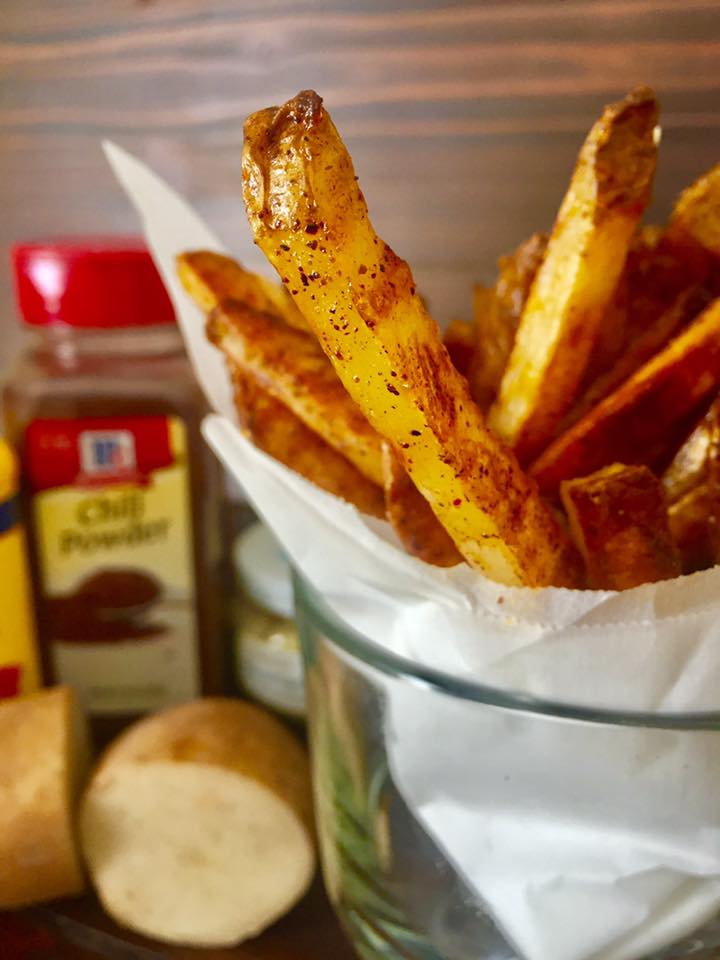 The crispiness you like from your fried fries without the grease and mess of frying!