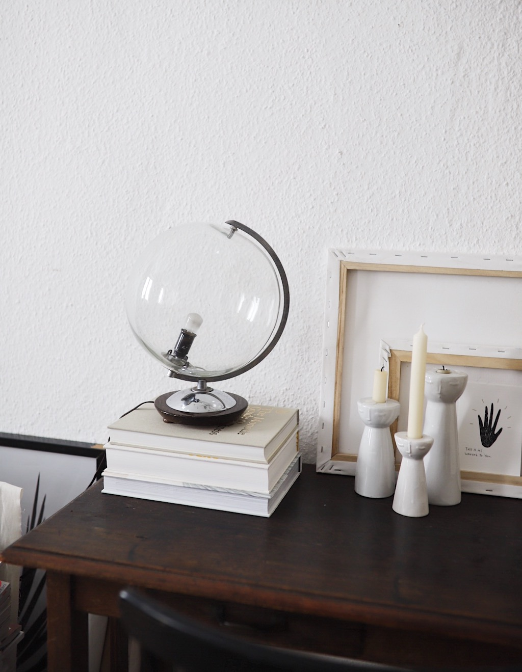 doitbutdoitnow upcycling vintage globus lampe. Black Bedroom Furniture Sets. Home Design Ideas