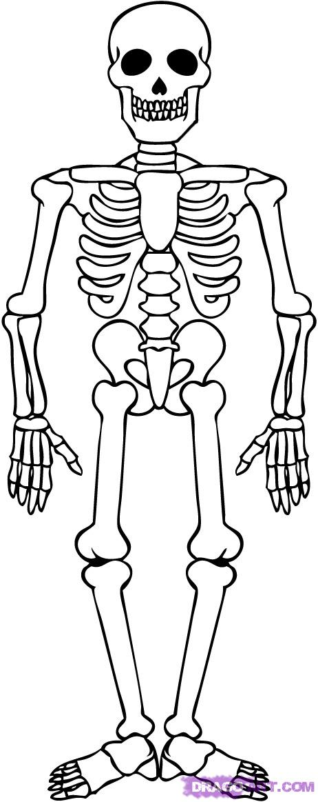 10 Scary Skeleton Coloring Pages
