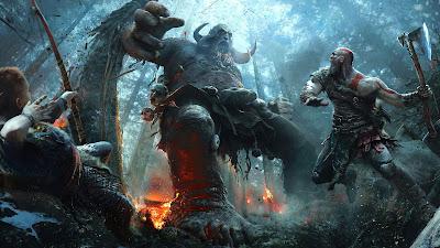 Papel de parede grátis de jogos games : God of War Kratos PS4 para pc, notebook e table em hd