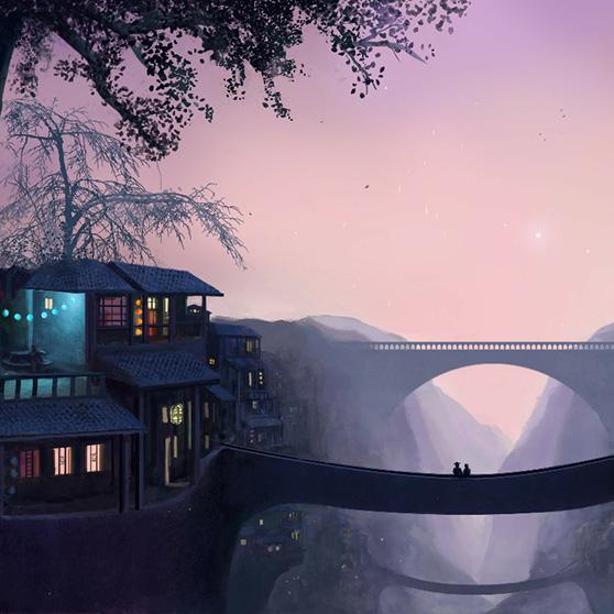 Fantasy World (Bridges) Wallpaper Engine
