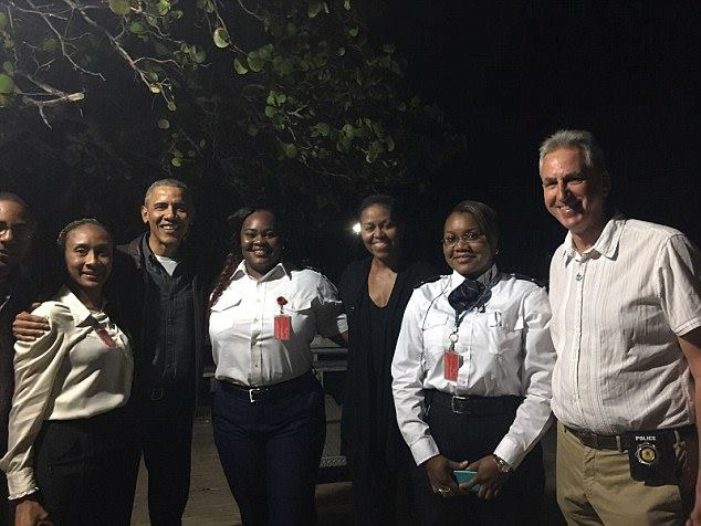 Barack and Michelle Obama take a vacation to the Caribbean