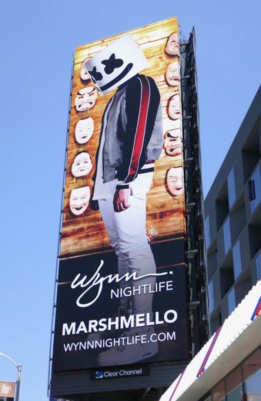 Marshmello Wynn Nightlife billboard
