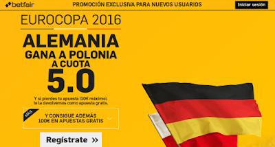 betfair Alemania gana Polonia supercuota 5 Eurocopa 2016 16 junio