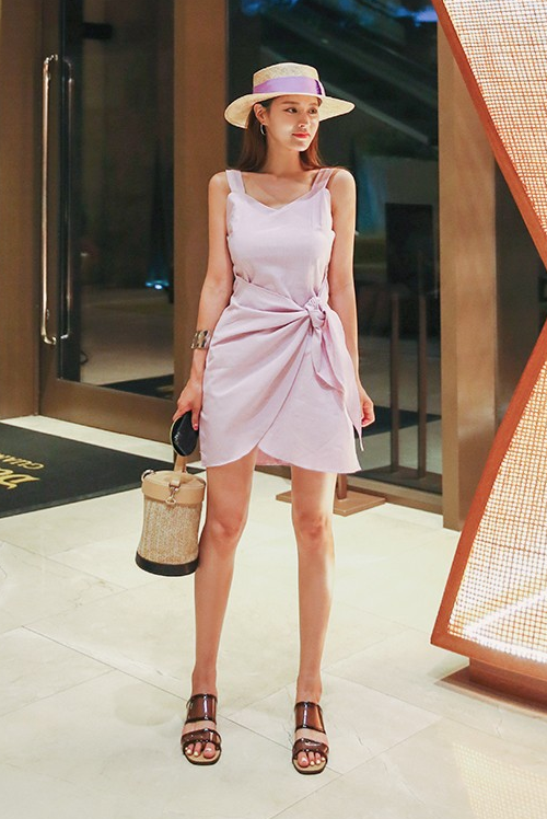 Sleeveless Mini Wrap Dress