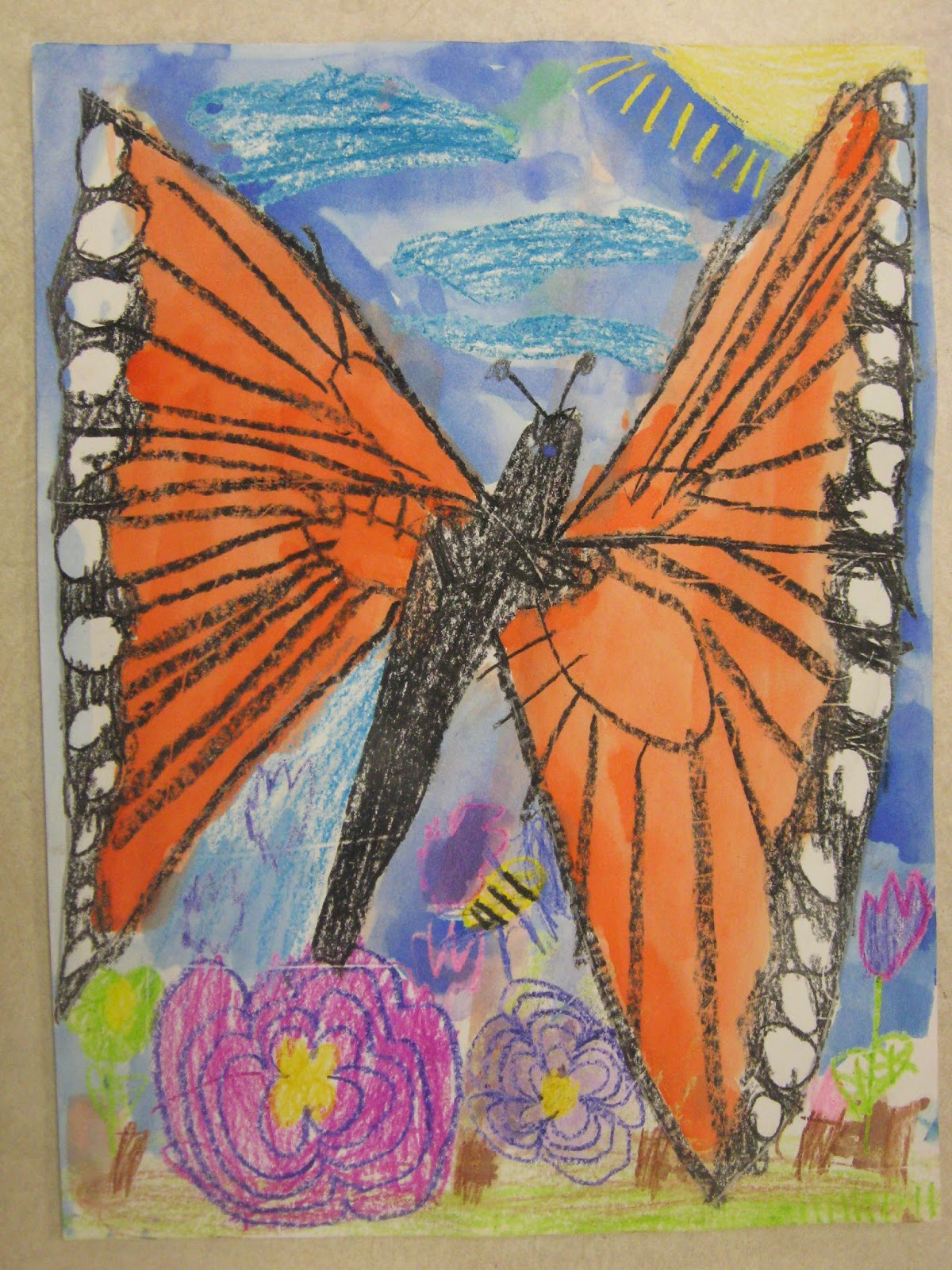 Miss Young S Art Room 1st Grade Monarch Butterflies