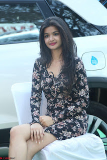 Kritika Telugu cinema Model in Short Flower Print Dress 011.JPG