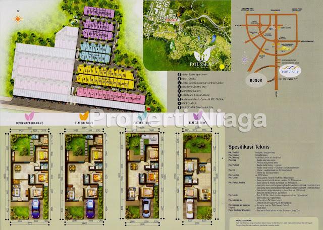 Siteplan-Cluster-Rousseau-Residence-Sentul-City
