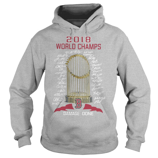 promo code 07cea 07317 Boston Red Sox 2018 world champs damage done shirt ...