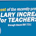 Amount ng proposed SALARY INCREASE for Teachers