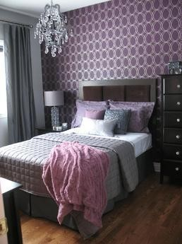 Ideas For Bedrooms Purple And Silver Bedroom
