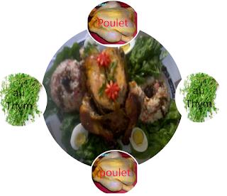 poulet , aux , thym , naturel , recette , alimentaire, soins,soins