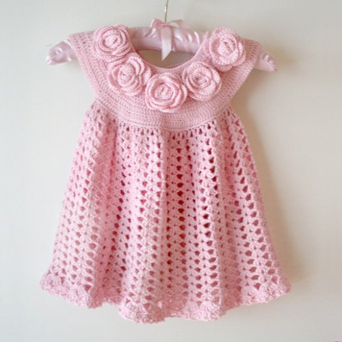 Pink Baby Dress - Crochet Pattern